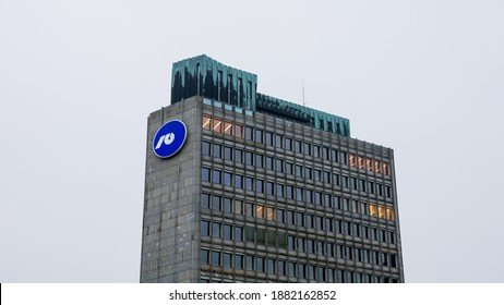 LJUBLJANA, SLOVENIA - 17 December 2020: NLB bank nova ljubljanska banka is one of the biggest slovenian bank