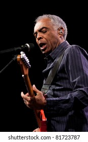 LJUBLJANA, SLOVENIA - JULY 26: Brazilian singer, guitarist and songwriter Gilberto Gil perform during a concert at Open Air Theater on July 26, 2011 in Ljubljana, Slovenia.