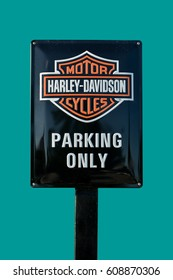 Ljubljana, Slovenia, June 30, 2016: Harley-Davidson Inc,an American motorcycle manufacturer, founded in Milwaukee, USA in 1903.
