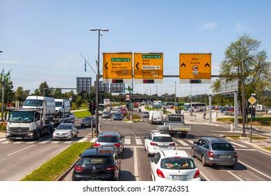 Ljubljana, Slovenia, on August 5, 2019. The highway conducting to the Mediterranean coast