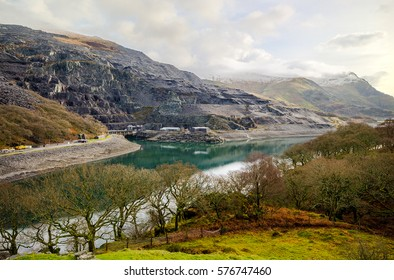 Llanberis (Dinorwic) Slate Quarries and Power station (electric Mountain). Snowdonia national park, Wales, UK.