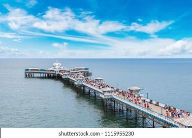 Llandudno Pier in Wales in a beautiful summer day, United Kingdom