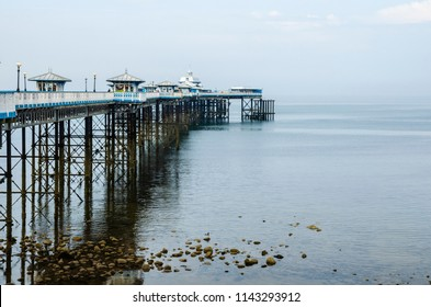 Llandudno Pier in Llandudno, Wales in June 2018