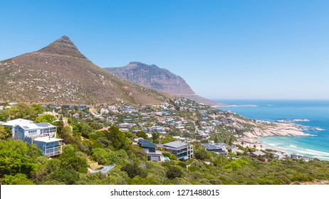 Llandudno suburb and beach view in Cape Town, South Africa
