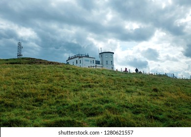 """Llandudno, United Kingdom- December 31,2018: A picture of Great Orme Summit during winter holiday. The number of tourist increase at North Wales."""