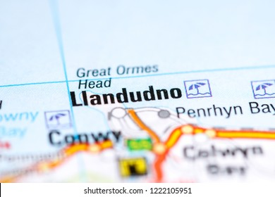Llandudno. United Kingdom on a map