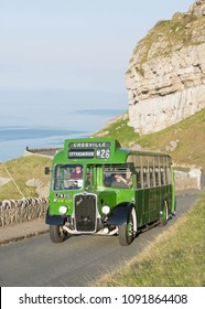 LLANDUDNO WALES, MAY 6 2018 1951 Bristol LWL6B bus on a vintage  tour around The Great Orme