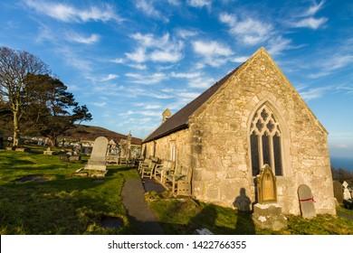Llandudno, Wales – St. Tudnos Church on the Great Orme, Llandudno, on November  17 2018 in UK.