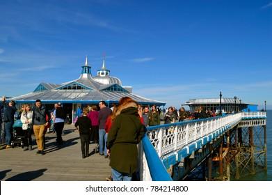 Llandudno, Wales, United Kingdom - April 4, 2015 : Llandudno pier in North Wales