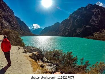 Llanganuco lake near to the city of Huaraz - Peru