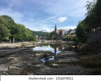 Llangollen from the river