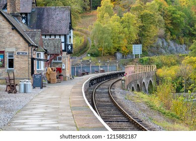LLANGOLLEN, UK - OCTOBER 27TH 2018: Berwyn station on the Llangollen railway