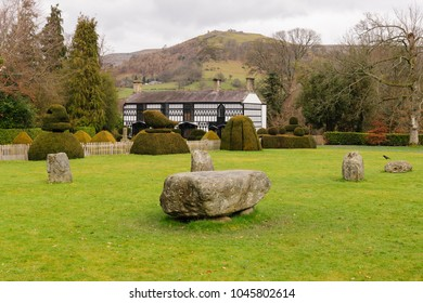 Llangollen Wales UK - March 13 2018: Plas Newydd house built in the 18th century home of the famous Ladies of Llangollen Sarah Ponsonby and Lady Eleanor Butler who lived there from 1780 to 1831