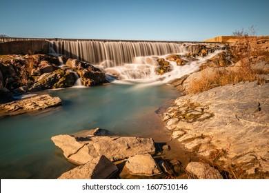 Llano river dam in Badu Park Texas
