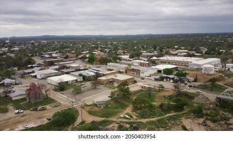 Llano Texas Downtown Aerial View