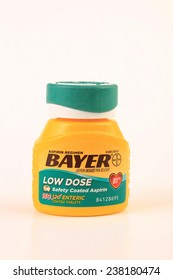 LLANO, TEXAS-DEC 16, 2014:  The low dose aspirin is highly recommended by many doctors for reducing risk of heart attack and stroke.  It is also for pain relief and reducing fever in children.