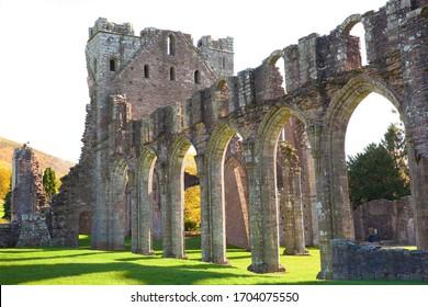 Llanthony Prior Abbey, Brecon Beacons, Mid Wales, UK