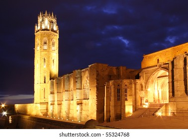 Lleida Cathedral - Night photo