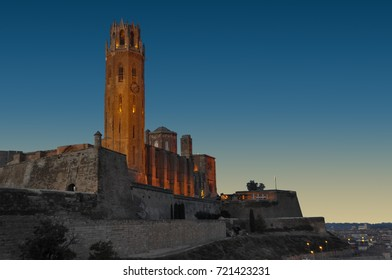 Lleida, Spain - October 28, 2010: The Cathedral of St. Mary of La Seu Vella of LLeida in Spain