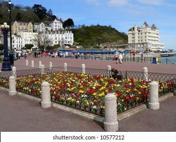 Lllandudno Promenade, Wales, UK