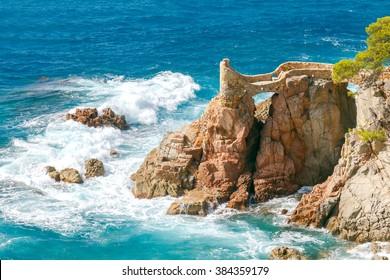 Lloret de Mar. The coastline of Costa Brava.