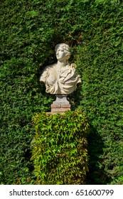 Lloret de Mar, Spain - April 11, 2017: Sculpture in the Santa Clotilde Gardens in Lloret de Mar.