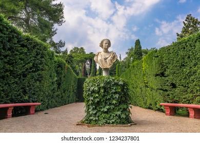 Lloret de Mar. Spain. Gardens of St. Clotilde. 2.07.2018