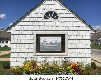 Lloyd Neck, NY / United States - August 10, 2019: The visitor information center at Caumsett State Park in Long Island, New York.