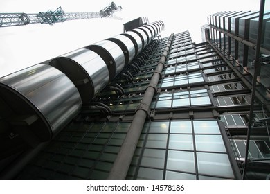 The Lloyd's building, a futuristic steel giant in London EDITORIAL USE ONLY !