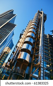 The Lloyd's Building and Willis Building in the morning light.
