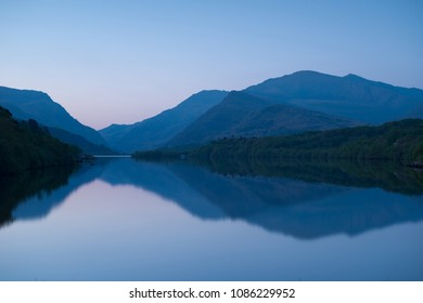 Llyn Padarn at sunrise in Snowdonia National Park