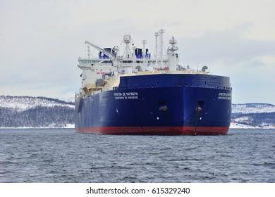 "LNG ""Christophe De Margerie"" at anchor. Murmansk"