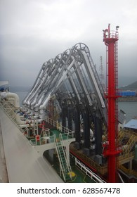 LNG loading arms for load/discharge LNG cargo of liquefied natural gas tanker