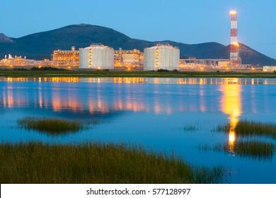 LNG plant, Sakhalin island, Russia