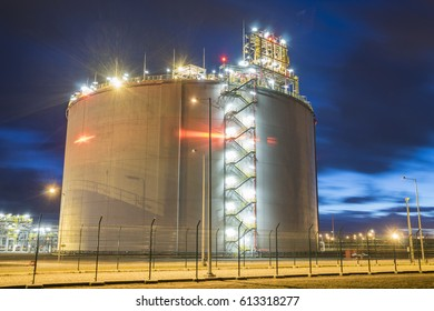 LNG storage tanks, LNG terminal in Swinoujscie, Poland