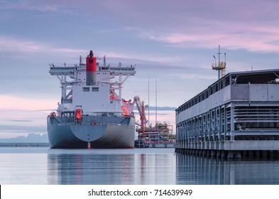 LNG TANKER - Big ship at the LNG terminal