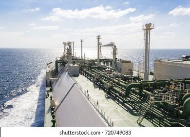 LNG tanker cross the Indian Ocean. LNG tanker.