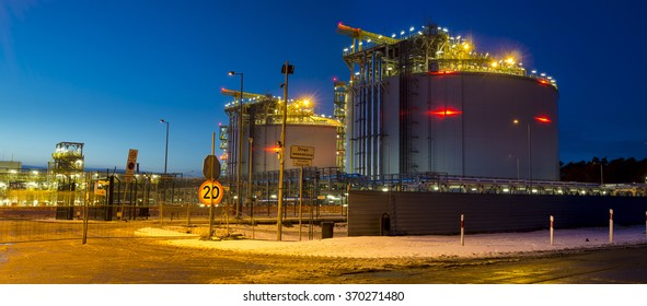 The LNG terminal in Swinoujscie,Poland
