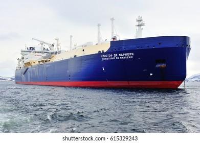 "LNGC ""Christophe De Margerie"" at anchor. Murmansk"