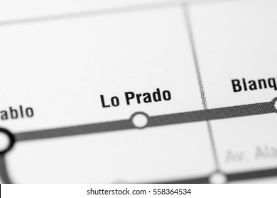 Lo Prado Station. Santiago Metro map.