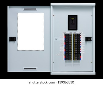 Load center, Electric switch with black background