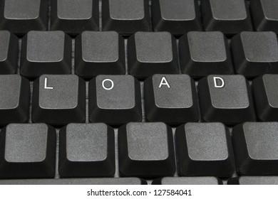 Load written on computer screen