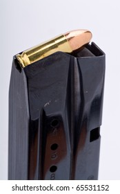 Loaded 9 mm pistol magazine