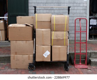 Loaded boxes.