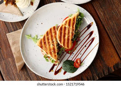 Loaded Toasted Breakfast Panini Sandwich