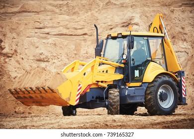 loader excavator with backhoe