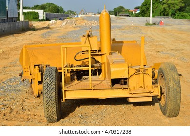 Loader excavator construction machinery equipment background