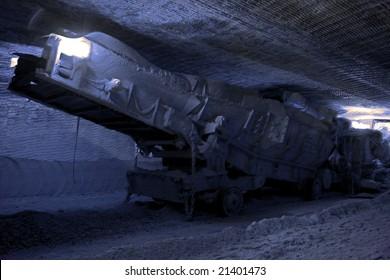 Loader. Loading machine set in underground mine