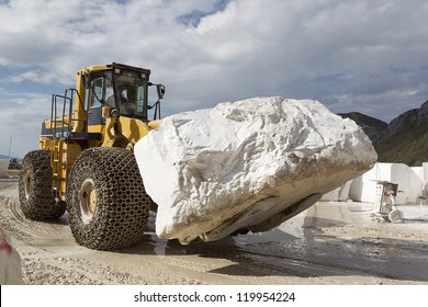 A loader in marble quarry