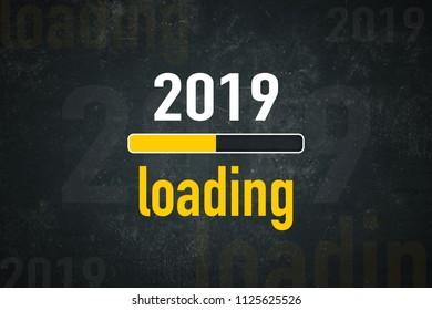 Loading bar: 2019 loading